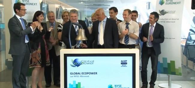 Jean Marie Santander, célèbre le passage de Global EcoPower sur Alternext